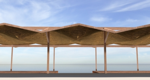 Anemos beach bar Canopy