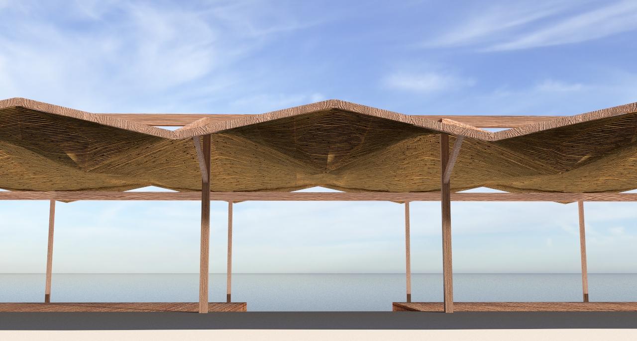 Anemos beach bar Canopy